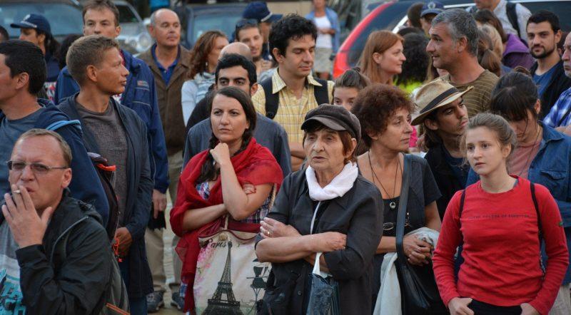 Гражданский протест в Софии, Болгария. Фото: Тихомира Методиева - Тихич. Используется с разрешения.