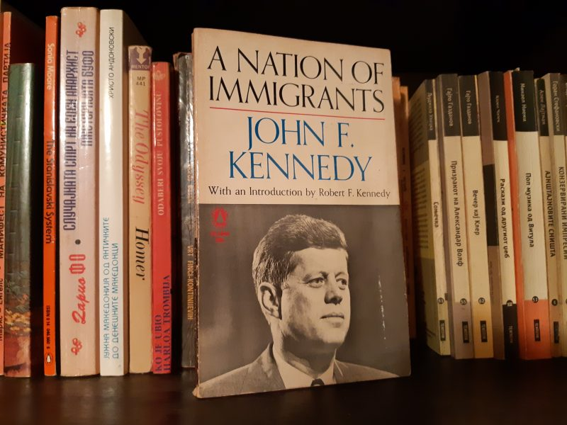 "Photo of the book ""A Nation of Immigrants"" by John F. Kennedy (JFK)"