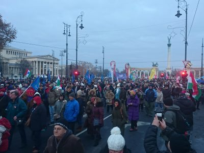 Data shows trend of fewer Hungarians attending public protests