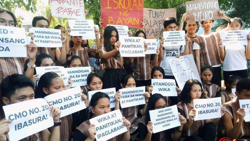 Removal of Filipino language and literature as required college