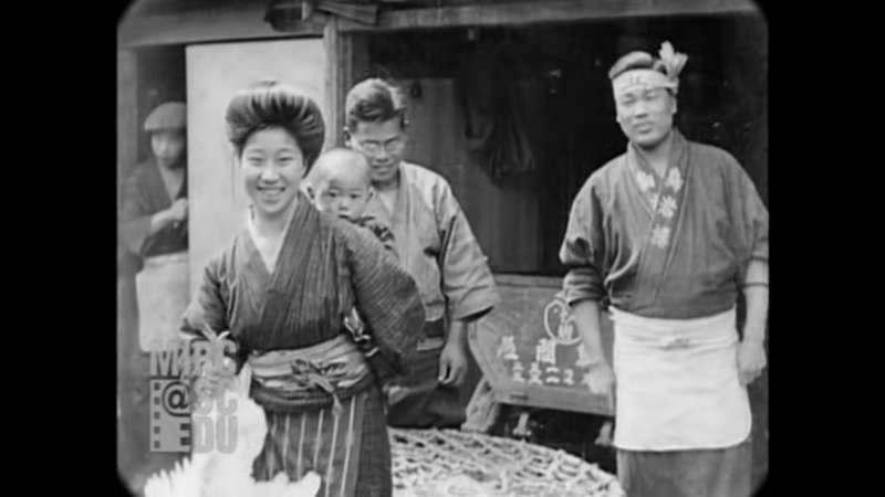 Everyday scenes in Kyoto Japan in 1929