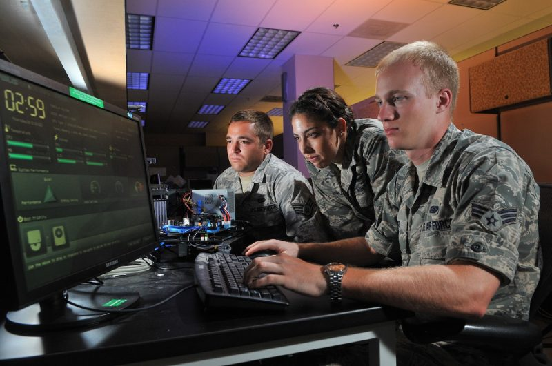 Cyber operations at Lackland Air Force Base, Texas, Aug. 1, 2012. (U.S. Air Force photo/Boyd Belcher)