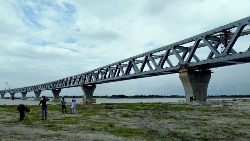 The Padma Bridge is a multipurpose road-rail bridge across the mighty Padma River under construction in Bangladesh. Image by Afzal Hossain via Wikimedia Commons. CC BY-SA 4.0