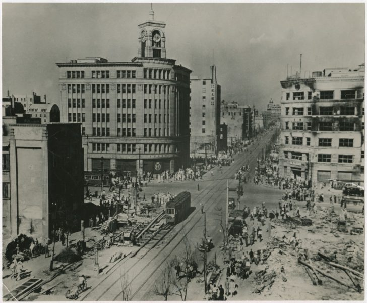 View of The Ginza District in Tokyo in 1946