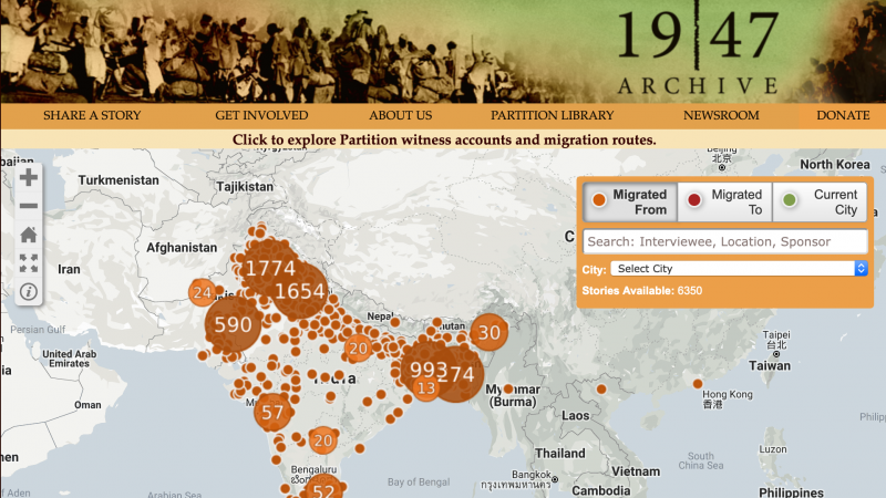 Oral historians and archivists fill in the record of the 1947 partition of India
