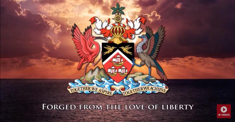 Rendition of Trinidad & Tobago's national anthem strikes