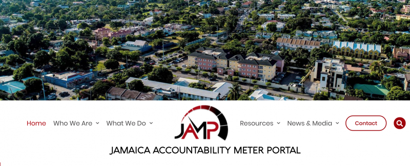 The Jamaica Accountability Meter Portal tracks government performance and gives power back to people