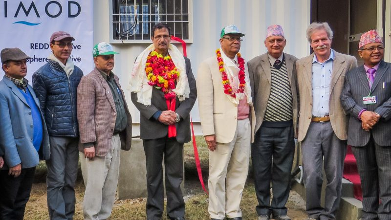 Agni Prasad Sapkota together with other officials in 2015. Image via Flickr by ICIMOD Kathmandu. CC: BY-NC 2.0.