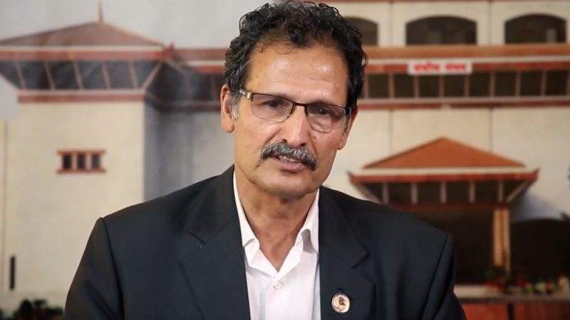 Agni Prasad Sapkota. Screenshot from Youtube video by Nepal News
