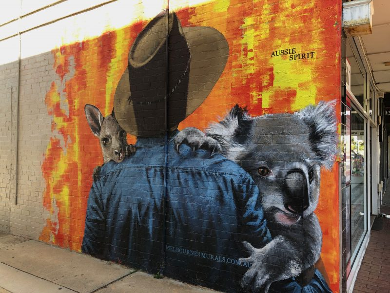 Aussie Spirit mural - Black Rock, Victoria