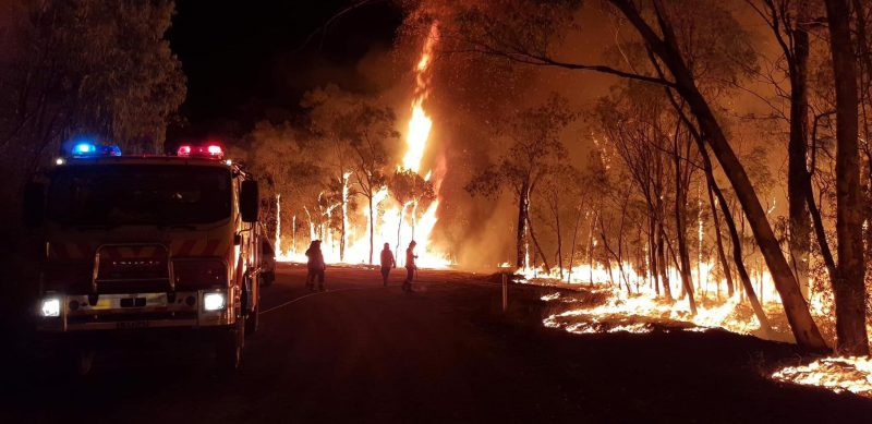 Rural Fire Service volunteers fight New South Wales blaze