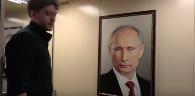 Viral prank video mocks Putin's cult of personality