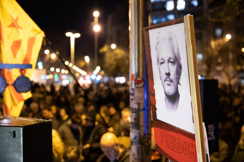 Event in support of Julian Assange - Barcelona 24 February 2020