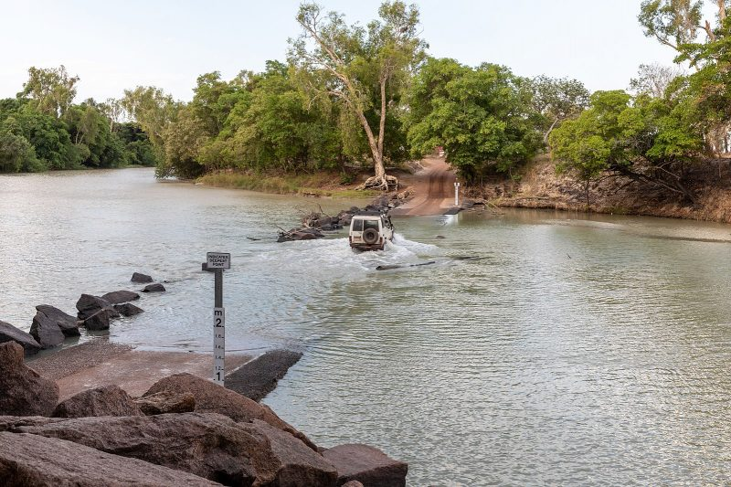 Crossing into Arnhem Land at Cahills Crossing, Kakadu National Park, Northern Territory, Australia (2019)
