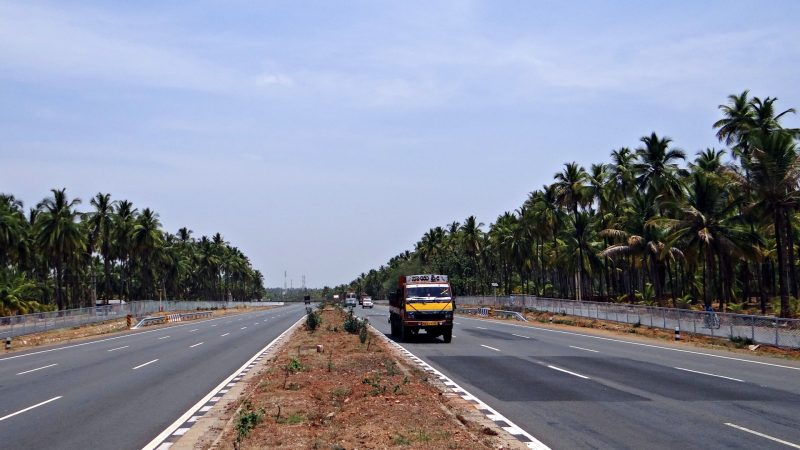 A highway in Karnataka, India. Image via Pxfuel.com. Used under a Creative Commons Zero - CC0 license.