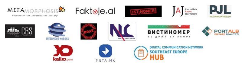 Logos des membres fondateurs de ADN-Balkans.