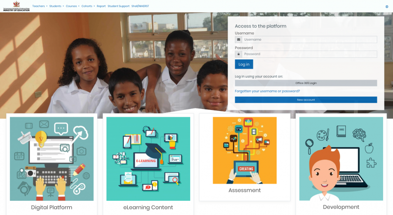 Screenshot of the Trinidad and Tobago Ministry of Education's recently launched online learning platform.