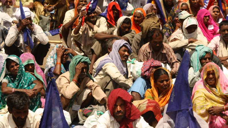 Dalits joining in a land rights campaign in 2013. Image via Flickr by Action Aid India. CC BY-NC-ND 2.0