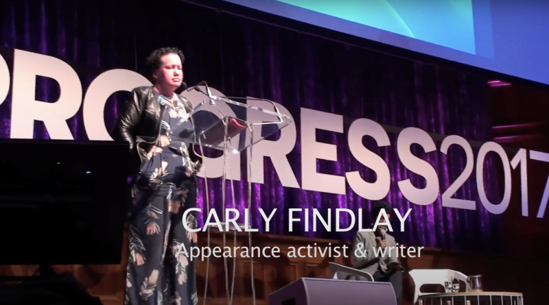 Disability Activist Carly Findlay at Progress 2017