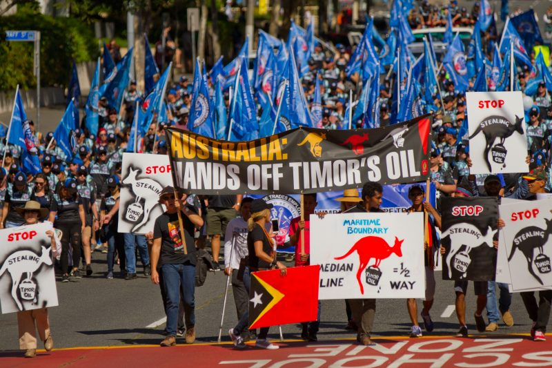 Hands off Timorese Oil - Brisbane May Day 2017 parade
