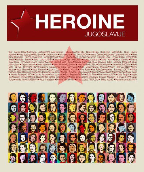 Au-dessus des vignettes technicolor représentant les combattantes à l'honneur, figurent leurs noms de guerre ainsi que le titre en gros caractères.