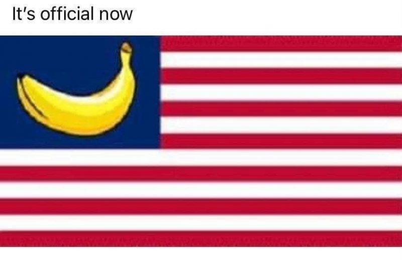 'Banana republic' flag