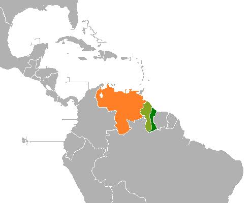 La province de l'Essequibo au coeur du litige se situe dans une zone frontalière entre le Guyana et le Venezuela.