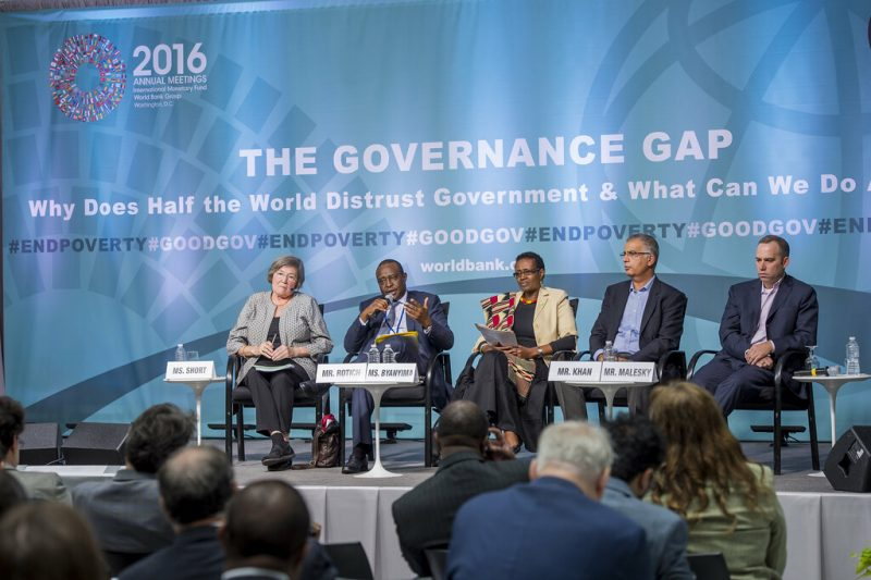 Mr. Henry K. Rotich, Kenya's Cabinet Secretary for National Treasury speaking at the Governance Gap forum hosted by the World Bank Group in 2016