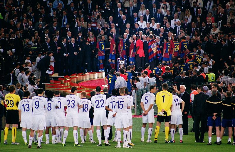 """File:002 men at work UEFA 2009, Rome.jpg"" by funnydae is licensed under CC BY 2.0"