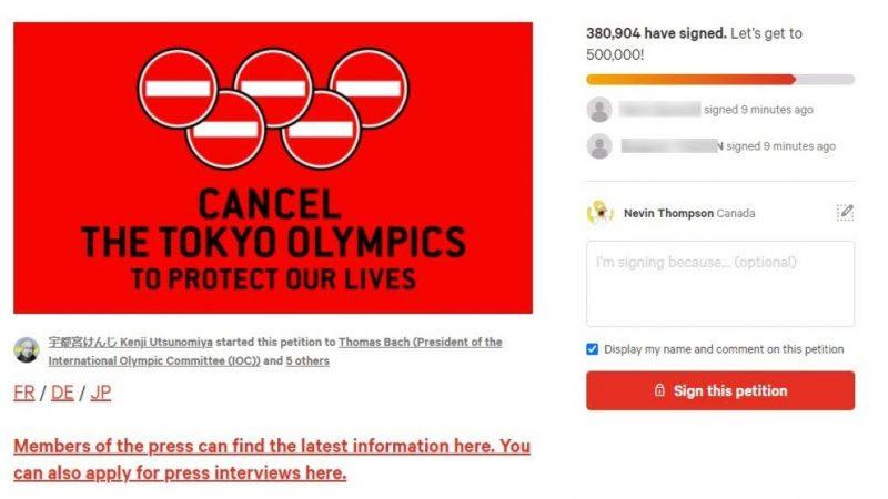 change org petició en contra olimpídes tòquio