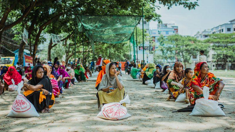 Bidyanondo Foundation's relief effort. Image via Bidyanondo. Used with permission.
