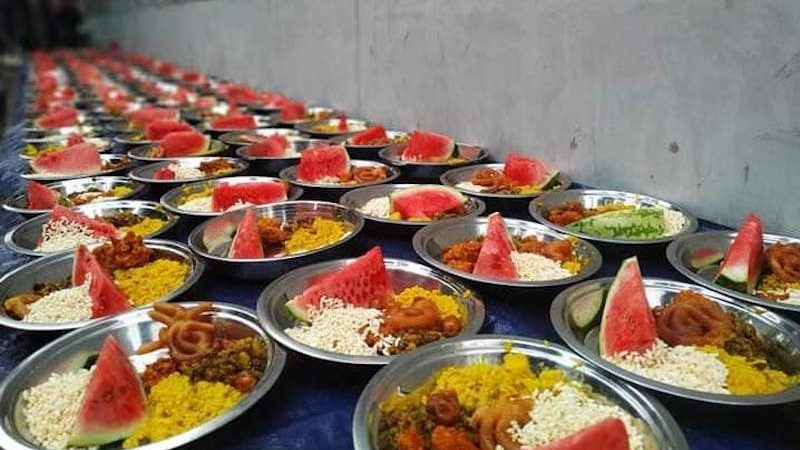 Iftar meals ready to serve