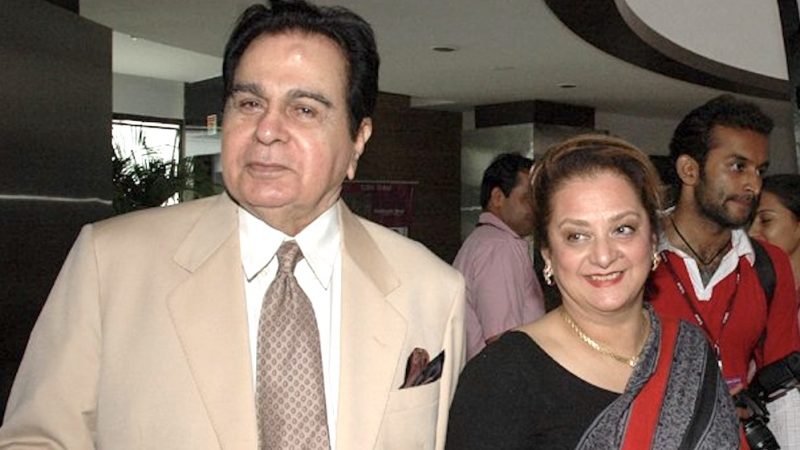 Actor Dilip Kumar with his wife actress Saira Banu in 2011. Image via Wikipedia by Bollywood Hungama.