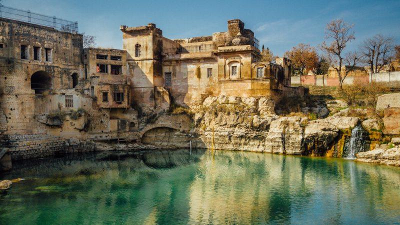 Shri Katas Raj Temples, also known as Qila Katas is a Hindu Temple Complex in Choa Saidan Shah, a small town of Chakwal District in the Punjab Province of Pakistan.