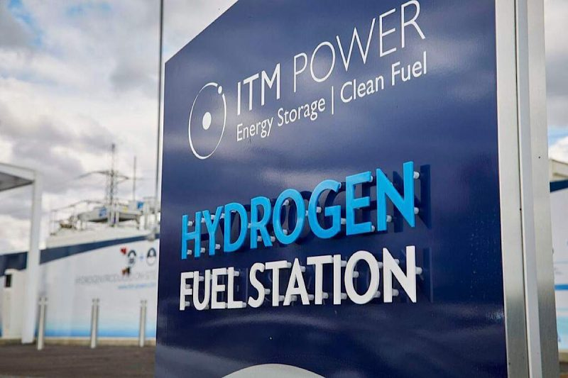 A hydrogen fuel station. Photo by Bexim via Wikimedia Commons. CC BY-SA 4.0.