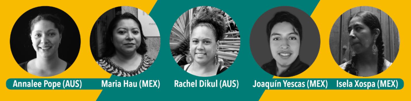 شارك نشطاء اللغة الأصلية من المكسيك وأستراليا الاستراتيجيات خلال محادثة عبر الإنترنت نظمتها منظمة الأصوات العالمية والفرست لغاتس أستراليا ، بدعم من سفارة أستراليا في المكسيك ، في 13 يوليو 2021.