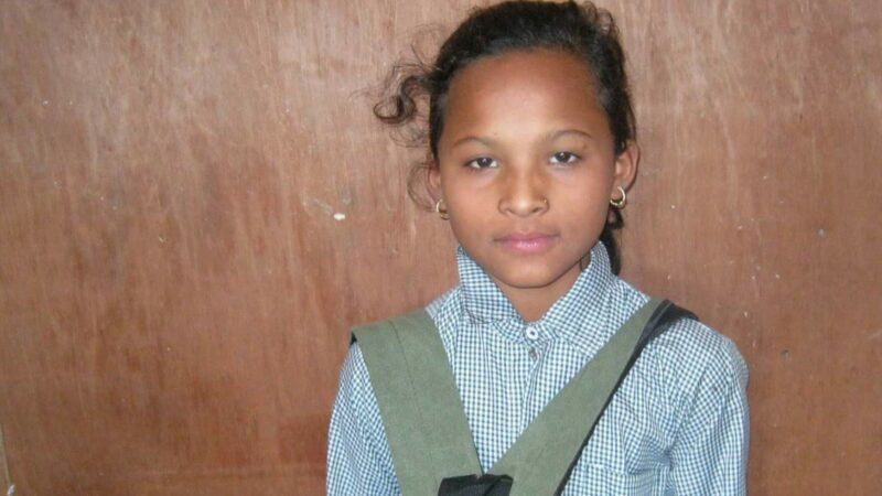 Srijana Singh Thakuri in 2008 as a student in Surkhet. Photo: Kopila Valley via Nepali Times. Used with permission.